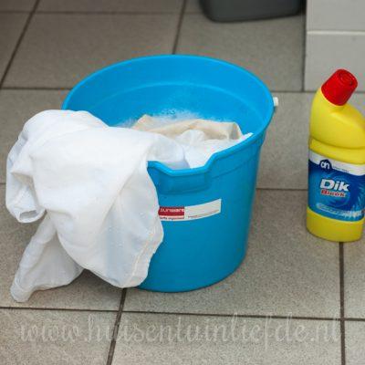 Douchegordijn schoonmaken